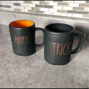 NWT Rae Dunn Halloween Matte Black Mugs